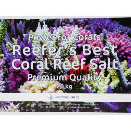 Reefer's Best Coral Reef Salt Premium Quality 20 кг Морская соль Korallen zucht