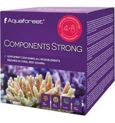 Aquaforest Components Strong (4 шт * 75 мл) Сбалансированный комплекс микроэлементов для морского аквариума