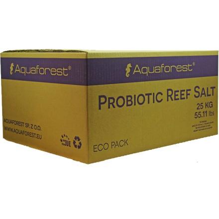 Aquaforest Probiotic reef salt 25 кг Морская Рифовая соль Премиум с пробиотиками