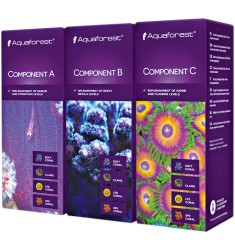 Aquaforest Component A+B+C (3 шт *150 мл) Комплект добавок для морского аквариума, улучшающих окраску кораллов
