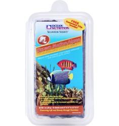 Brown Seaweed Коричневые морские водоросли с экстрактом чеснока в пакете Ocean Nutrition с клипсой для кормления 30г
